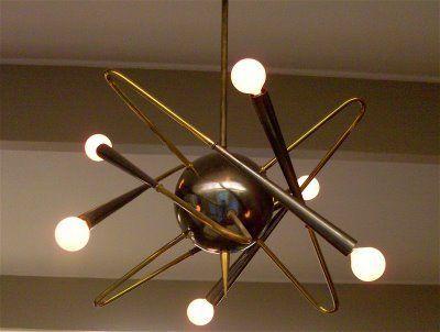 1950s Light Fixture Mid Century Lamp Modern