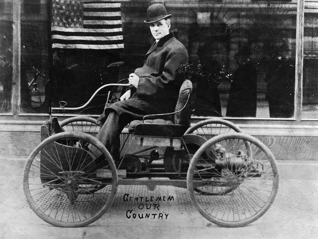 Henry Ford (1863 - 1947) in his first car built in 1896. & Henry Ford (1863 - 1947) in his first car built in 1896. The ... markmcfarlin.com
