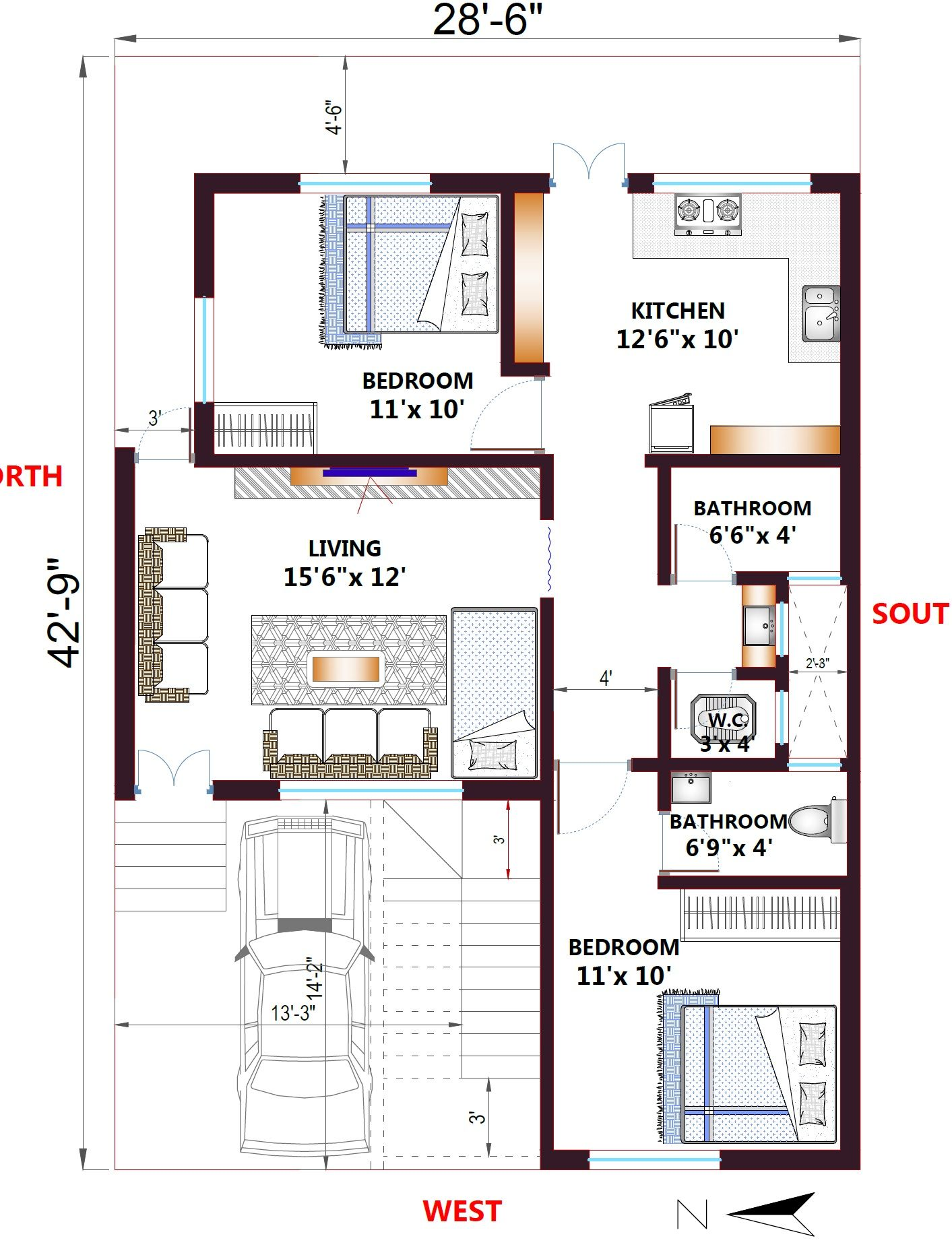East West North Side Plan Are Available Watch Detail Videos To Understand Micro Concepts House Floor Plans House Plans Indian House Plans