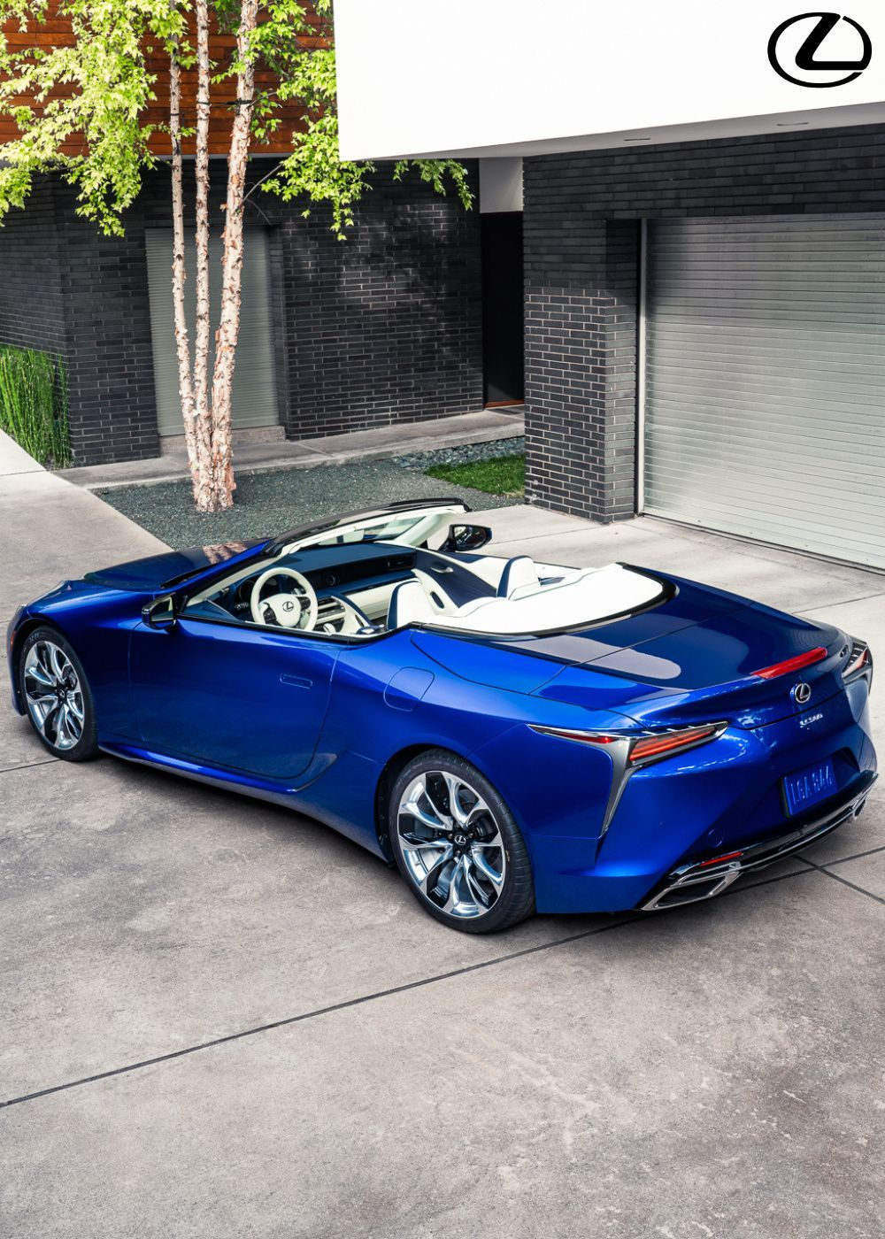 The Lexus LC 500 Regatta Edition Convertible is finished in structural blue, mimicking the depth of colour found in the natural world. Click to find out more. #Lexus #LexusLC #LCConvertible #LexusLCConvertible #LC500 #LuxuryCars #NewCars #ConvertibleCars #CarDesign #CarBodyDesign #Regatta
