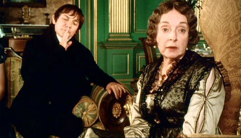 Image result for mr. collins and lady catherine de bourgh in pride and prejudice