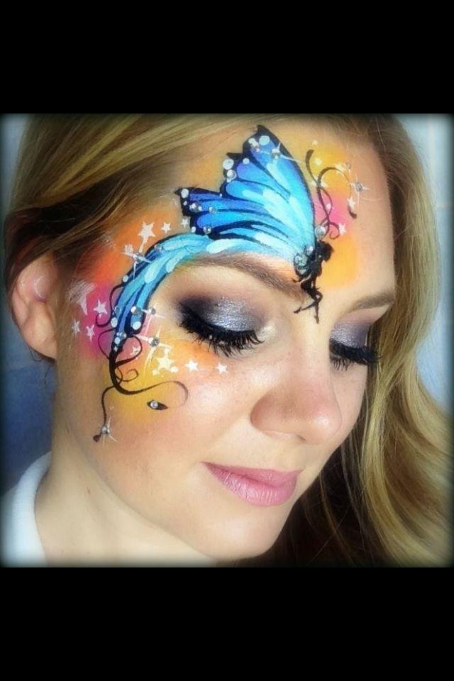 Pixie fairy face paint | Face Painting Butterflies ...