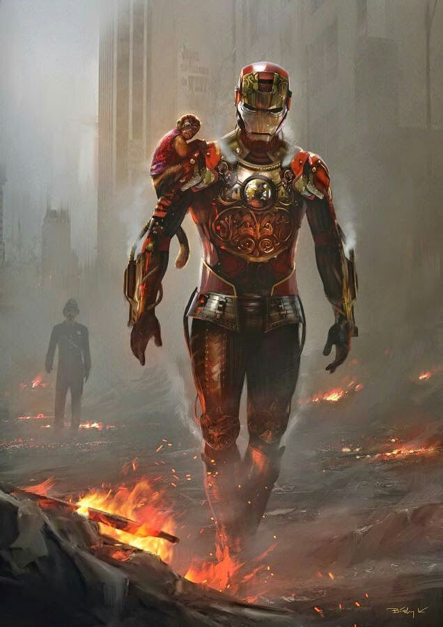 #Iron #Man #Fan #Art. (Steampunk Iron Man) By: Krystian Biskup. (THE * 5 * STÅR * ÅWARD * OF: * AW YEAH, IT'S MAJOR ÅWESOMENESS!!!™)[THANK U 4 PINNING!!!<·><]<©>ÅÅÅ+(OB4E)