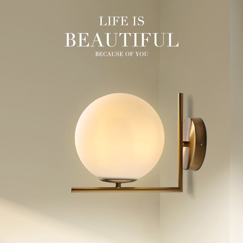 Modern Glass Wall Lamp Nordic Decor Living Room Wall Sconces Russia Bedside Lamps Led Bedroom Copper Wall Lights E27 G Copper Wall Light Modern Glass Wall Lamp