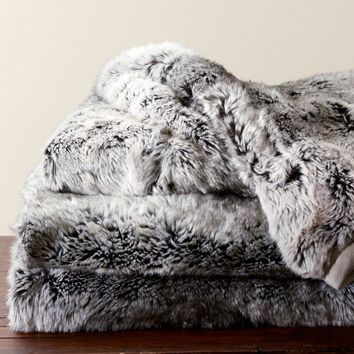 Faux Fur Throw Gray Beige Ombre WinnersHomesense Tahari Or Mesmerizing Threshold White Faux Fur Throw Blanket