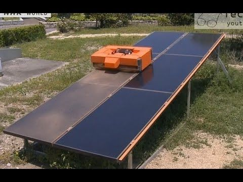 Solar Panels Cleaning Robot روبوت متخصص بتنظيف لوحات الطاقة الشمسية Solar Panels Solar Panel Project Solar Panel Installation