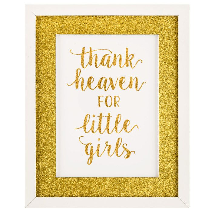Thank Heaven for Little Girls Glitter Framed Wall Decor | Emery\'s ...