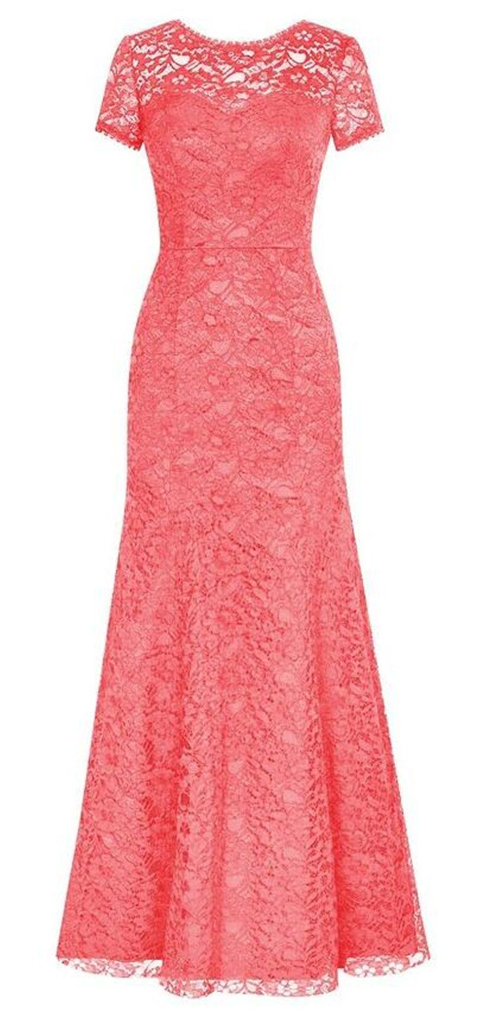 Endofjune lace and chiffon evening prom dress us coral have