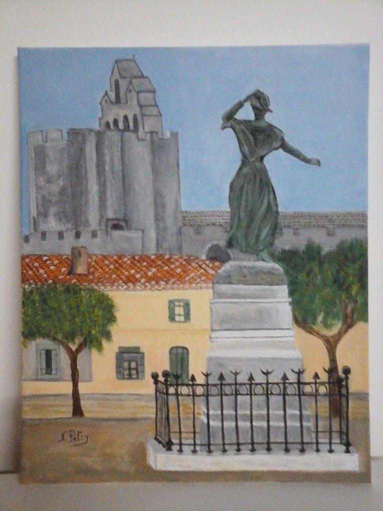 Tableau Aquarelle Les Saintes Marie De La Mer Xxeme Louis