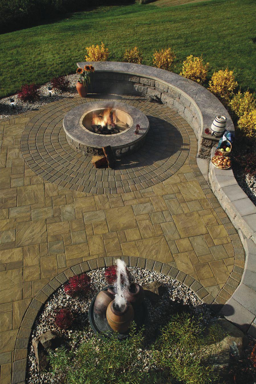 paver stone patterns cambridge pavers fire pit wild pinterest