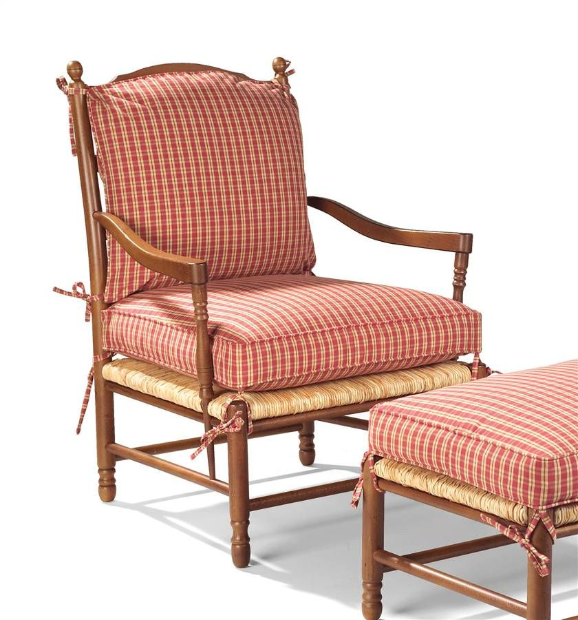 Eastwick Upholstered Arm Chair Country French Ladder Back
