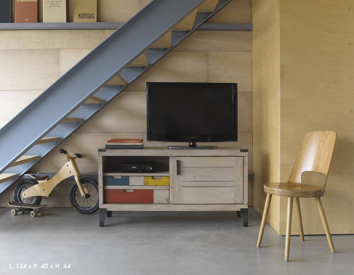 Pin By Hangar De Style Nantes On Artcopi Mobiliers Pinterest # Meuble Tv Chevalet