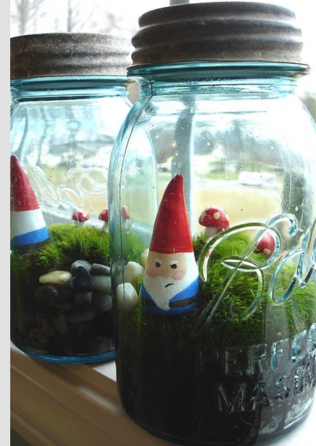 Pin By Blessed Be On Felting Pinterest Gnomes Mason Jar
