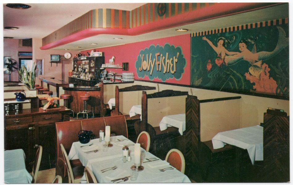 Postcard Interior Jolly Fisher Seafood Restaurant In Duluth Minnesota 107781