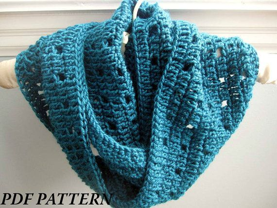 Crochet Pattern For Infinity Scarf Or Cowl An Original Pdf Pattern