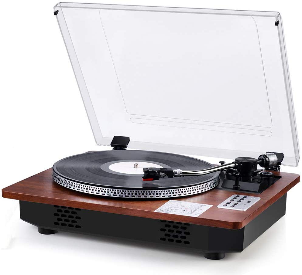 Record Player With Speakers Turntable For Vinyl Records Wireless In Out Usb Direct Vinyl To Mp3 Re Record Player Speakers Vintage Record Player Record Player
