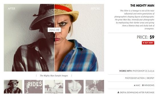 """Download Photoshop Actions """"The Mighty Man"""" at: http://www.lookfilter.com"""