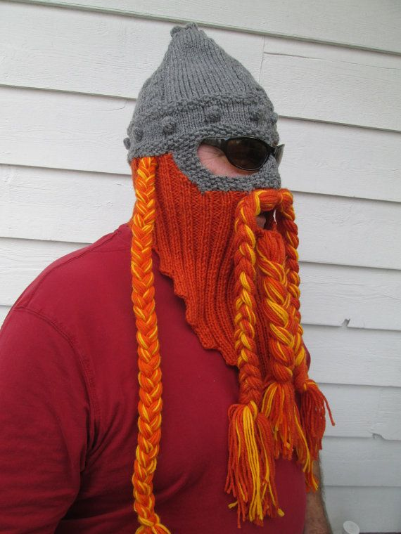Hobbit Viking Beard and Hat Beard hat Beard Beanie by Ritaknitsall ... c115cd1d6a9