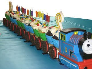 How to Make Thomas and Friends cupcake train for your childs