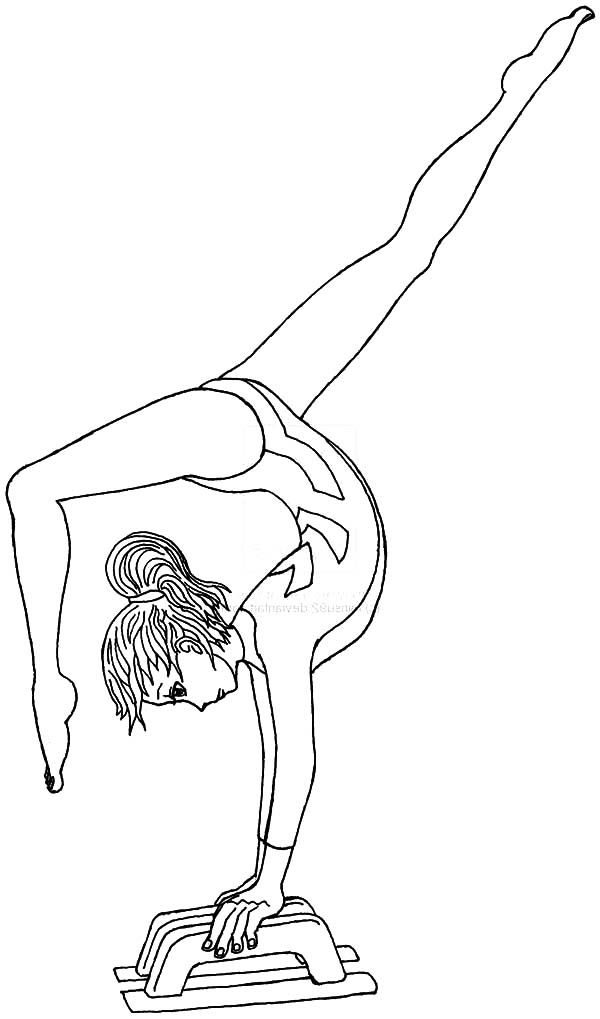 Gymnastics Coloring Pages Sports Coloring Pages Pinterest