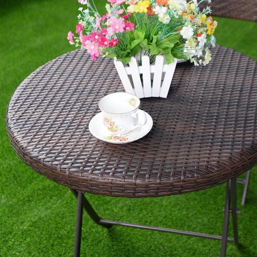 3Pc Folding Rattan Round Table Chair Bistro Set Price 400 x 300
