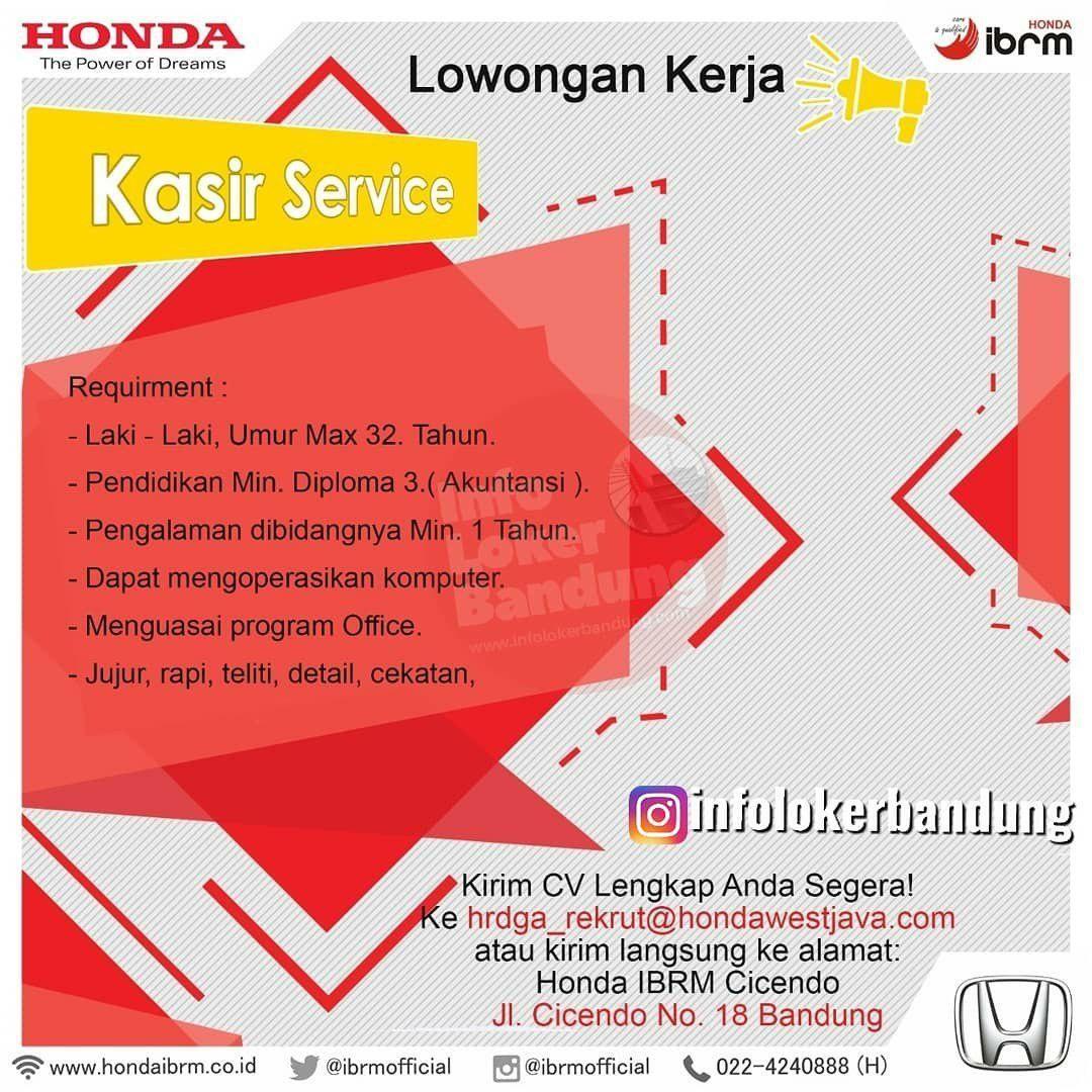Lowongan Kerja Honda IBRM Bandung Januari 2020 ...