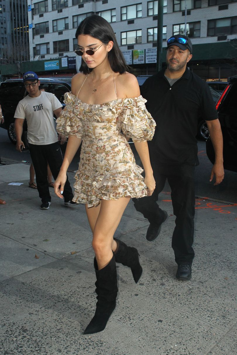 0a78aaf8b11c New York – August 1 2017 Kendall Jenner in Zimmermann and Alexandre  Vauthier boots.