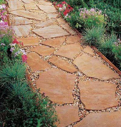 Flagstone Walkway Design Ideas saveemail How To Install A Flagstone Path Patio Ideaslandscaping Ideasgarden Ideaswalkway Ideaswalkway Designsoutdoor