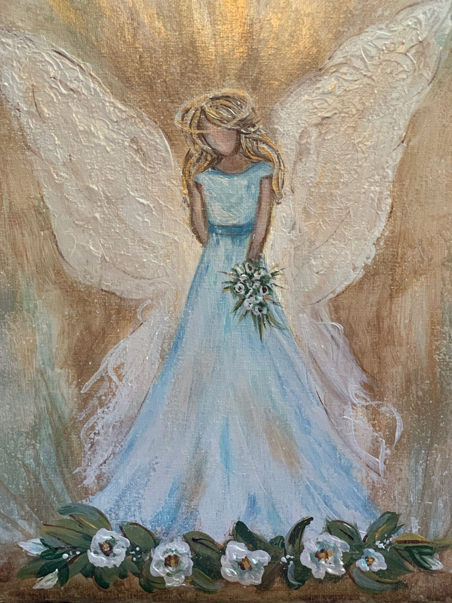 Pin By Beverly Vann On Inspirational Art Angel Painting Angel Art