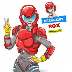 Rox Fortnite Fanart Howtodraw Drawingtutorial Drawing Tutorial Cute Coloring Pages Step By Step Drawing