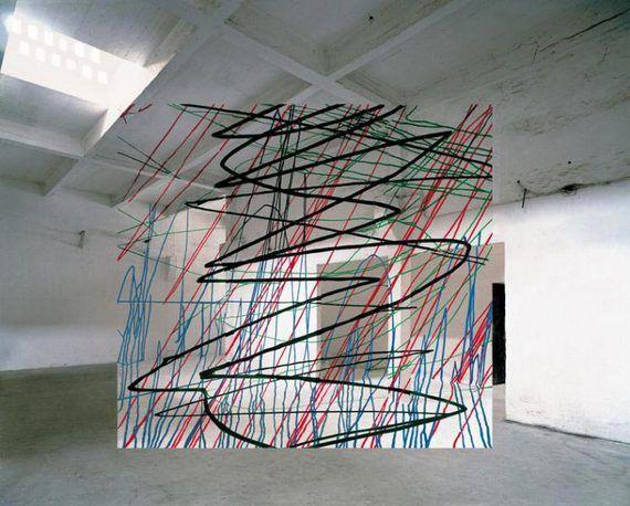 Georges Rousse Anamorphic Illusion