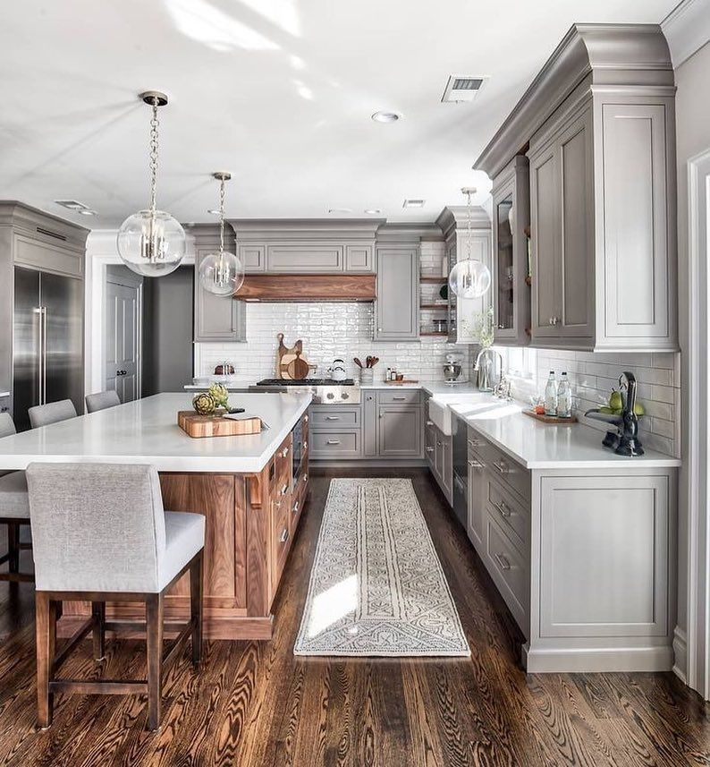 Painting Your Kitchen Cabinets Is No Small Undertaking: Grey Kitchen Cabinets
