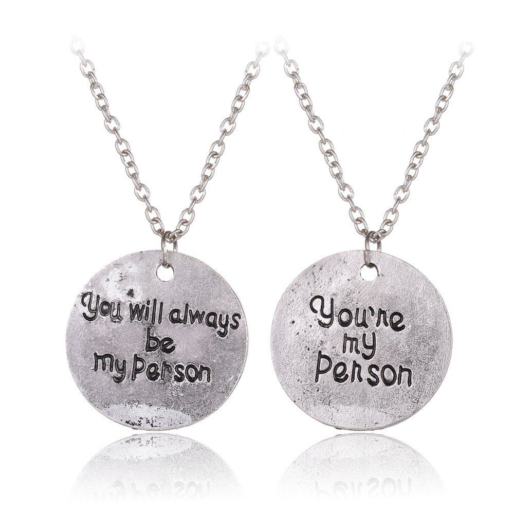 Grey\'s Anatomy You\'re My Person Couples Necklace Set