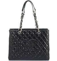 #Chanel classic patent leather tote