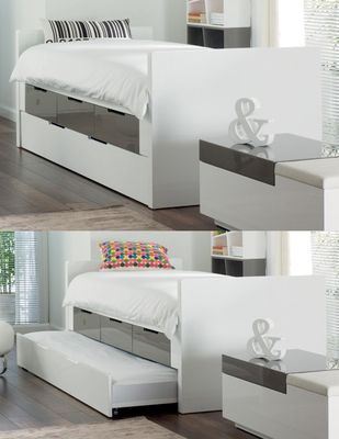 Buddy Bed With Storage Drawers And Pull Out Stone