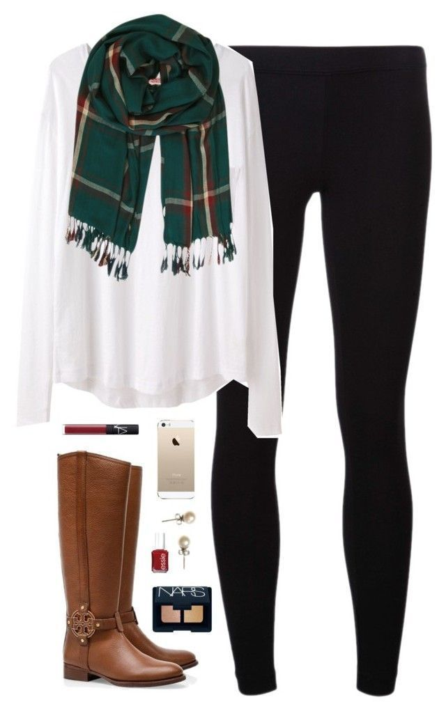 cute fall outfit with Tory Burch boots clothes Pinterest Ropa