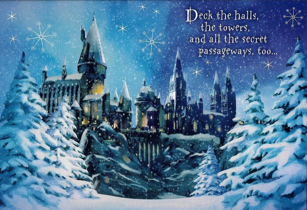 Harry Potter Fans Hogwarts Christmas Card By Sunrise 4 Hogwarts Christmas Hogwarts Christmas Cards