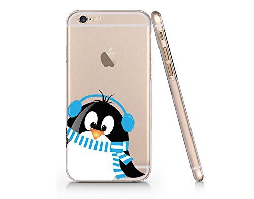 Cute Penguin Merry Christmas Clear Transparent Plastic Phone Case for iphone 6 6s_ SUPERTRAMPshop SUPERTRAMPshop