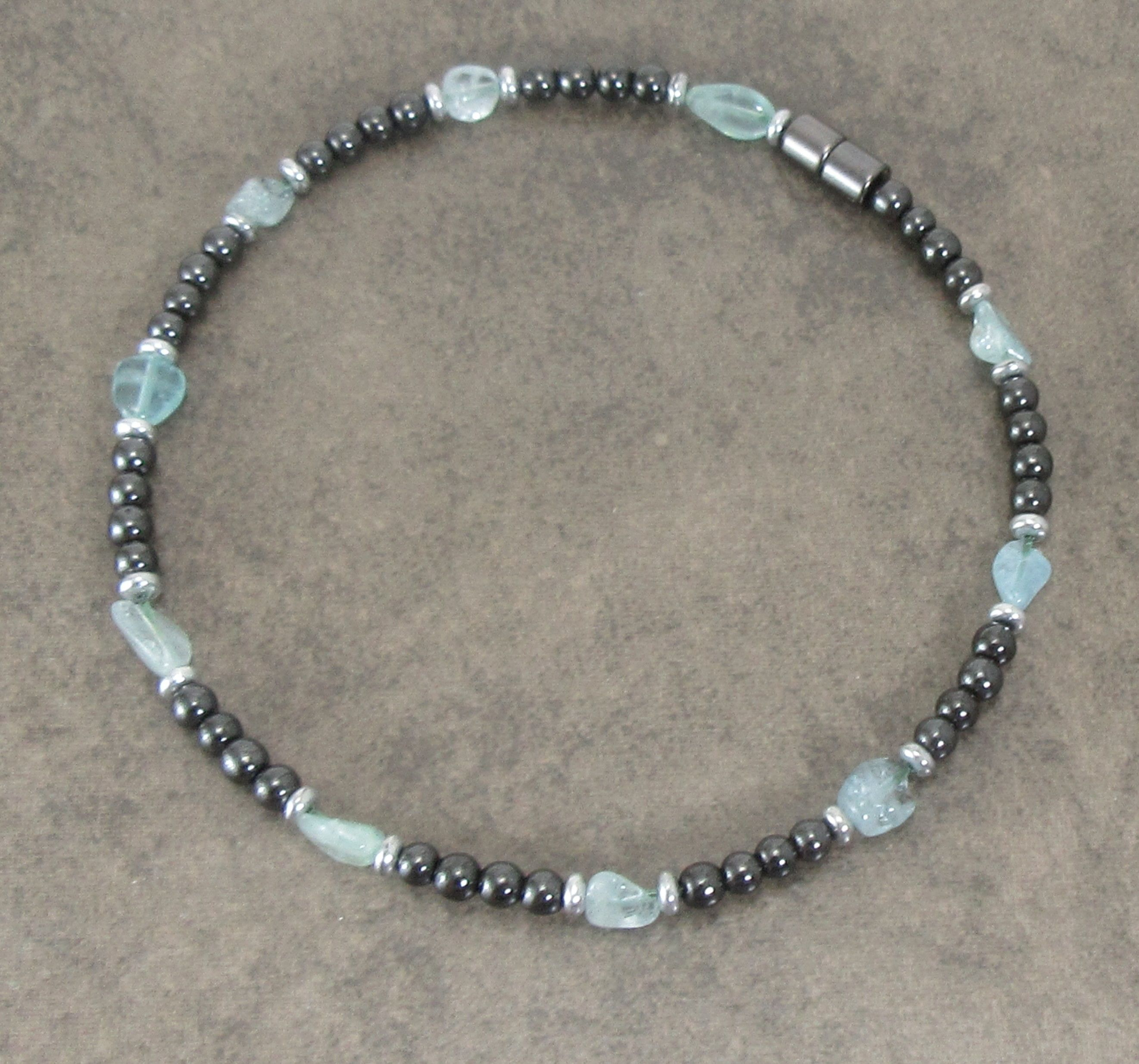 bracelet donna anklet square aquamarine products cropped