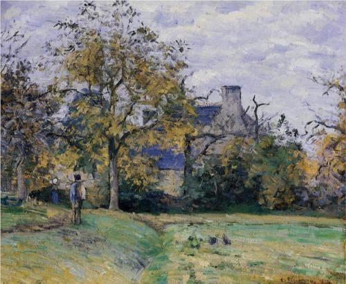 Piette's Home on Montfoucault - Camille Pissarro