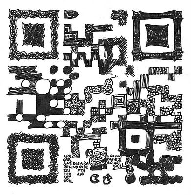 Qr Code Ink Sketch Customized Qr Codes Code Art How To Draw
