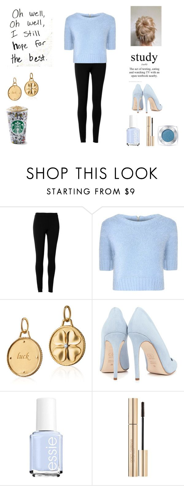 """""""P.S.A.T"""" by dreamingdaisy ❤ liked on Polyvore featuring Max Studio, Glamorous, Blue Nile, Dee Keller, Essie, Dolce&Gabbana and L'Oréal Paris"""