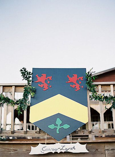 Coat of Arms:  Join your two families with a joint crest that you debut at the wedding.