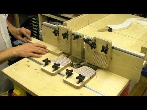 Router Table Fence - Featherbaords T Slots Plastic Guard / Table Saw Extension - YouTube