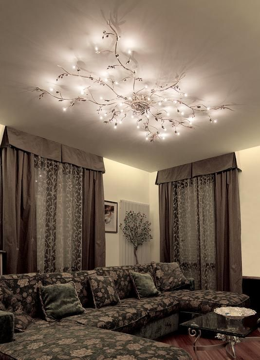 Mesmerize your guests with these gold contemporary style ceiling ...