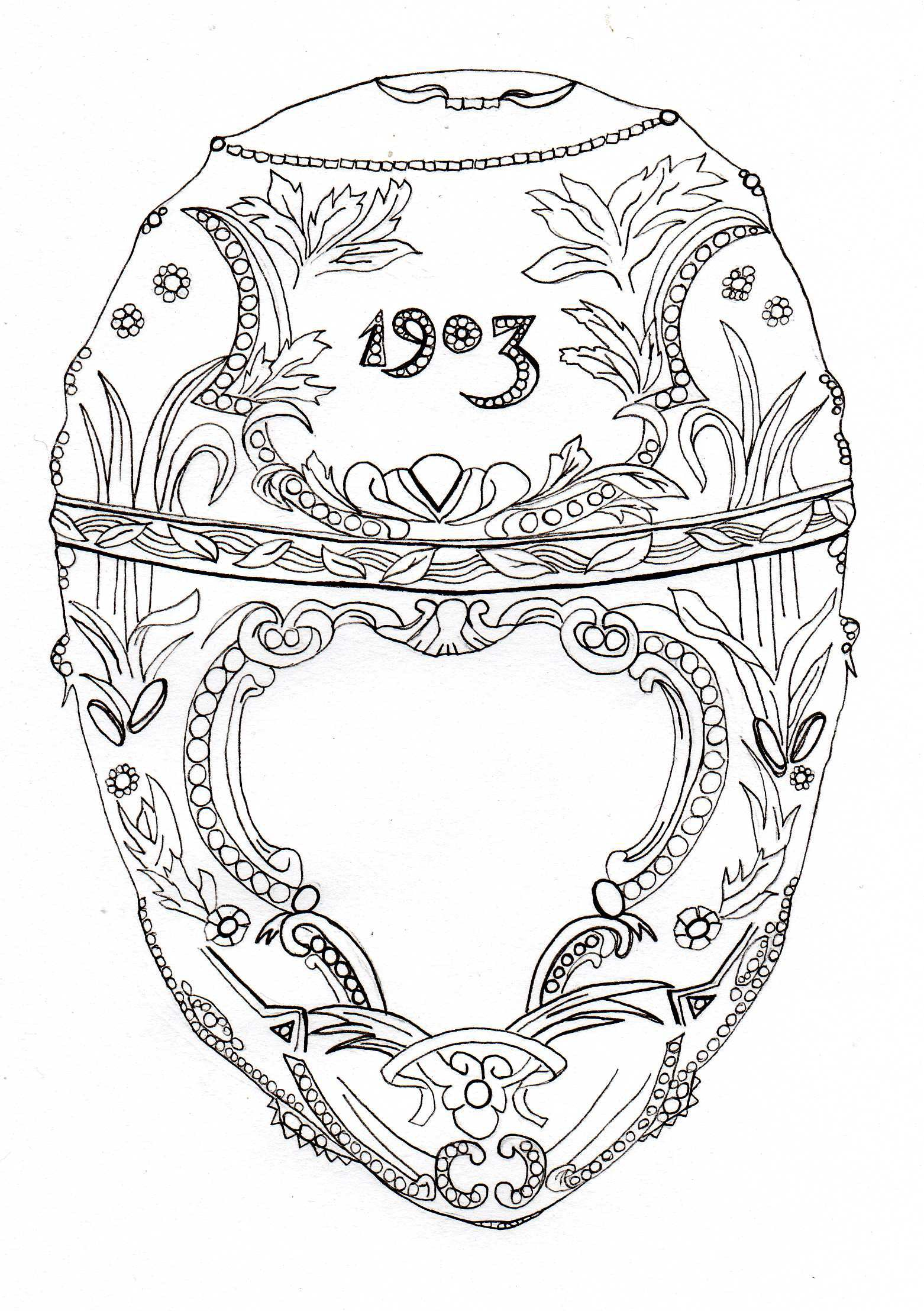 The Faberge Project Coloring Pages Faberge Egg Art
