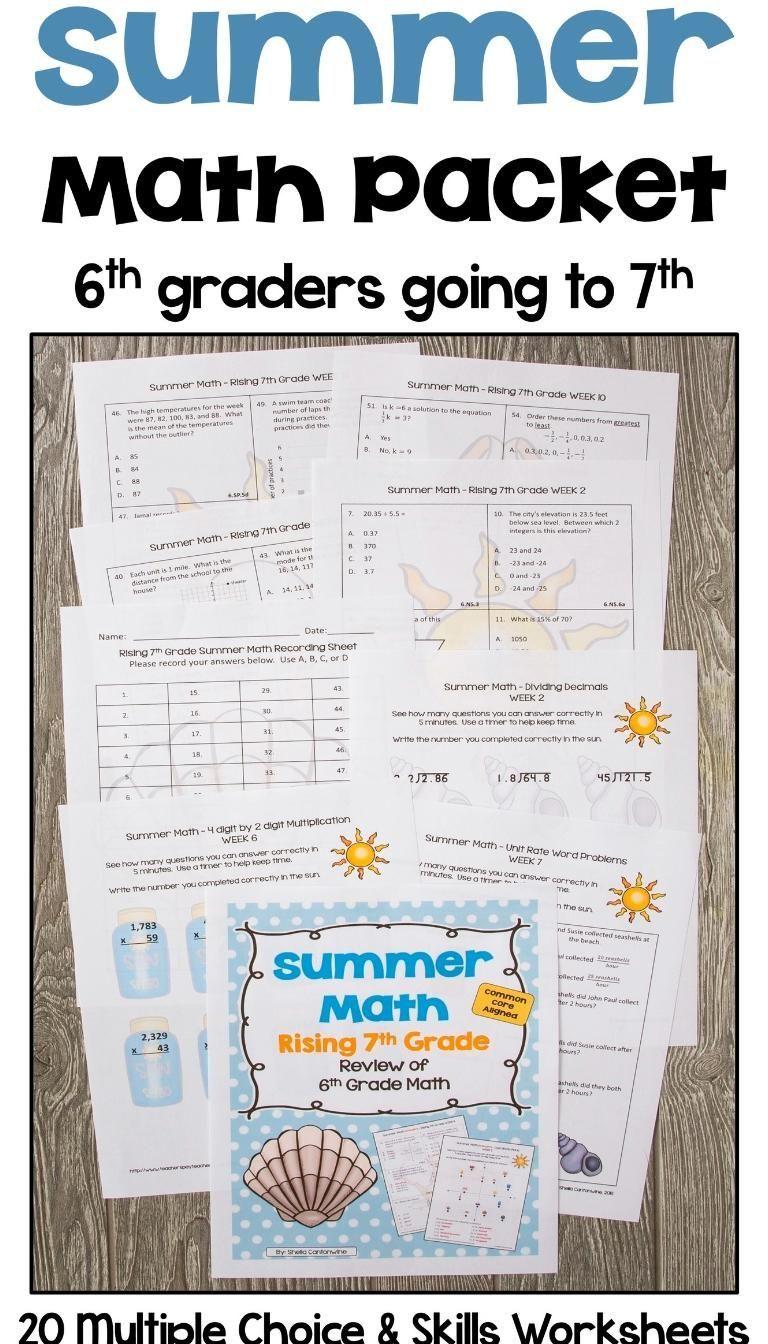 Science 7th Grade Math Activities Fun 7th Grade Math Syllabus 7th Grade Math Interactive Notebook 7th Grade Mat In 2020 Summer Math Packet Summer Math Math Packets