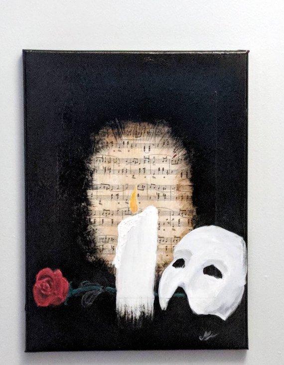 Phantom Of The Opera Inspired Painting Phantom Of The Opera Painting Cool Paintings