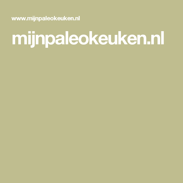 mijnpaleokeuken.nl