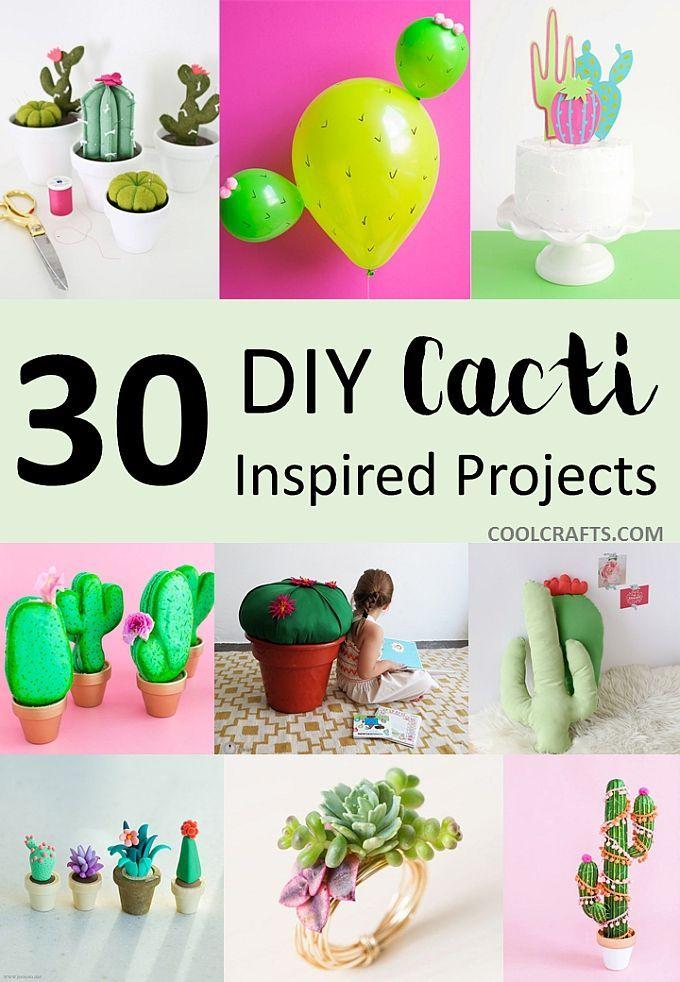 30 DIY Cactus Crafts Not From the Dessert #cactuscraft